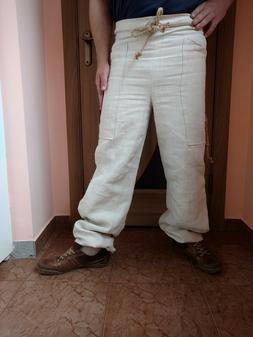 100% Hemp Yoga Harem Pants Homespun cloth Unisex Men Women O