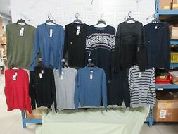 12 MEN'S SHIRTS CLOTHES SMALL SWEATERS LONG SLEEVE BASIC EDI