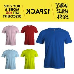 12 PACK AAA 1301 ALSTYLE APPAREL MENS PLAIN SHORT SLEEVE T S