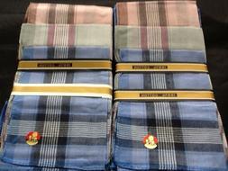 12 Pc Mens Handkerchiefs Hankies Hankerchiefs Cloths 100% Pu
