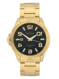 Armitron 20/5392BKGPWM Men's Gold-Tone and Black Calendar Dr