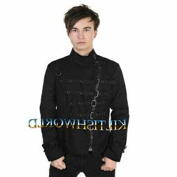 2020 New Banned Gothic Clothing Men's Metal Cuff Jacket Jack