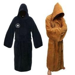 2021  Men's Sleepwear Robe Hooded Fleece Bathrobe Cloak Gown