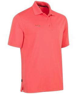 $225 Greg Norman Tasso Elba Men'S Orange Short-Sleeve Polo G