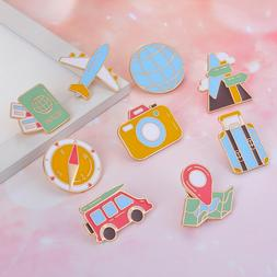 2PCS Airplane Brooch Delicate Clothing Accessories for Girl