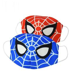 2pcs Comic Hero Spider Man Cotton Cloth Face Masks Mouth Cov