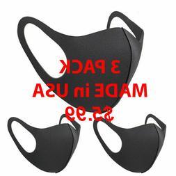 3 Pcs Face Mask Reusable Washable Cover Masks Fashion Cloth