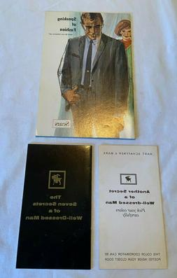 3 Vintage 60s Men's Fashion Booklets from Sears & Hart Schae