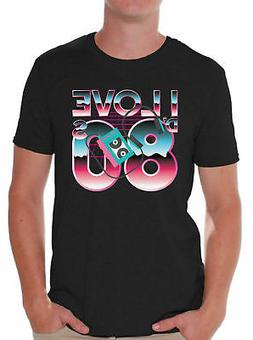 80s Shirts 80s Clothes for Men 80s Disco I Love the 80s T Sh