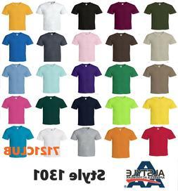 Alstyle Apparel AAA T Shirt 1301 Men's Plain Blank Short Sle