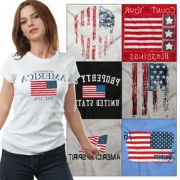 American Tees T Shirts For Mens 4th of July Tees Souvenir Gi