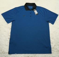 Under Armour Apparel Mens Performance Polo Golf Blue Circuit