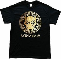 Apparel Wakanda Gold Foil Men's Cotton Black T-Shirt Size S-