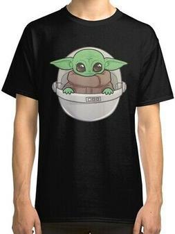 Baby Yoda Men's Black Tees Shirt Clothing