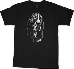 Basset Hound Face Portrait T-shirt Dog Breed Tee Men's Cloth