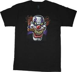Big and Tall t-shirt evil scary clown cigar big men tee king
