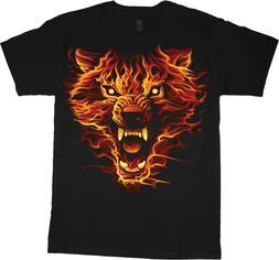 Big & Tall T-shirt - Fire Wolf Wolves Decal Design Bigmen Gr