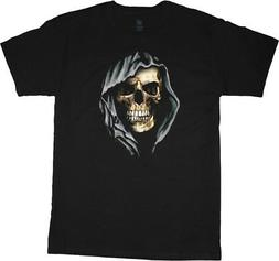 Big and Tall t-shirt hooded skull design mens king size clot
