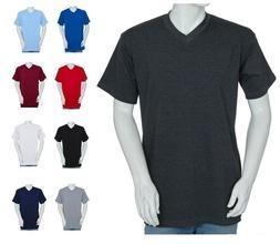 Styllion Mens Shirts Big and Tall V Neck - Short Sleeve - He