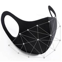 Black Men Women Unisex Face Masks Cloth Cover Mask Reusable