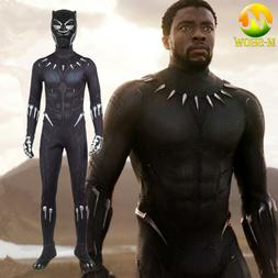 Black Panther Cosplay Costume Halloween Zentai Costume for M