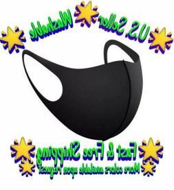 Black Unisex Face Mask Reusable Washable Cover Masks Fashion