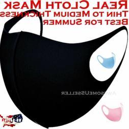 Black Women Men Unisex Face Masks Cloth Cover Mask Reusable