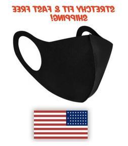 Black Face Mask Fashion Unisex Reusable Washable Cover Mask