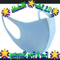 Blue Unisex Face Mask Reusable Washable Cover Masks Fashion
