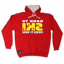 born to ski powder monkeez hoodie hoody