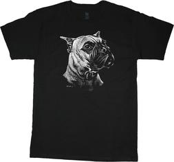 Boxer T-shirt Dog Breed Face Tee Men's Clothing Dog Person G