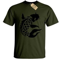 Carp Mens T-Shirt Fishing FISHERMAN ANGLING CLOTHING KOI CAM