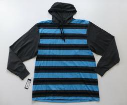 9K Clothing Co Shirt Mens 5XL Blue Long Sleeved XSkinny Hood