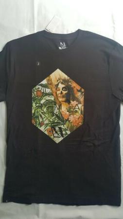 Amplify Clothing Men's T-Shirt Onyx Black Graphic Print Crew