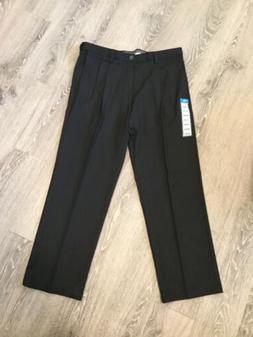 HAGGAR Cool 18 Pro Men's Dress Pants 36x29 Long. Black. Cl