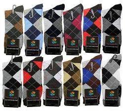 12 PAIRS NEW COTTON MEN LORDS ARGYLE STYLE DRESS SOCKS SIZE