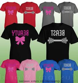 Couple Clothes Beauty and Beast Matching Love Clothes T-Shir