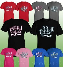 Couple T-shirt - Hubby Loves Her & Wifey Loves Him -  T-shir