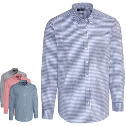 Cutter & Buck Men's Big and Tall Stretch Gingham Dress Shirt