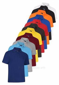 Uneek Deluxe Polo Shirt Men's Casual Smart Top Work Office C