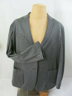 Amazon Essentials Men's Unlined Knit Sport Coat, Gray, XXL