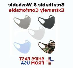 5PCS Face Mask MIXED Colors Reusable Washable Fabric Cloth M