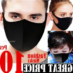 Black Women Men Unisex Face Masks Cloth Cover Fashion Mask W