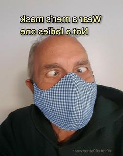 Face Mask XL XLARGE Big Men Beard Denim Handmade Cloth washa
