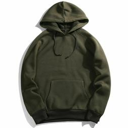 Fashion Hoodies Men's Thick Clothes Winter Sweatshirts Solid