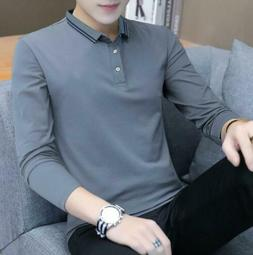 Fashion Men Clothes Loose Breathable Long Sleeve T-Shirt lap
