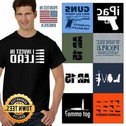 Firearms Tee Shirt Bear Arms T-Shirt Mens TShirts USA T Shir