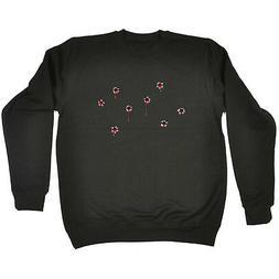 Funny Novelty Sweatshirt Jumper Top - Red Bullet Holes