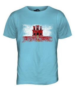 GIBRALTAR DISTRESSED FLAG MENS T-SHIRT TOP FOOTBALL GIFT SHI