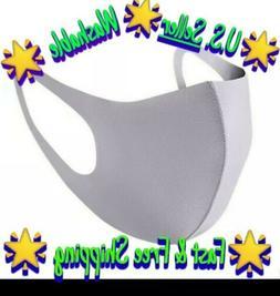 Gray Unisex Face Mask Reusable Washable Cover Masks Fashion